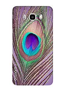Omnam Peacock Leaf Closeup Printed Designer Back Cover Case For Samsung Galaxy J5 (2016)