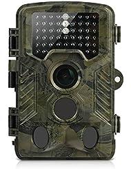 Camera de Chasse, 16MP Aidodo Caméra de Surveillance Infrarouge Imperméable Vidéo 1080P HD 49 LED avec Accéléré 25m 120° PIR Grand Angle de Vision Nocturne Camouflage Invisible Observation Traque IR Caméra de Jeu