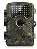 Cámara de Caza, Aidodo 1080P HD Cámara Nocturna Caza 16 MP Cámara de vigilancia Con Sensor de infrarrojos de 3 Zonas IP56 Impermeable Infrarrojo 82ft 25M 49 Piezas LEDS 120º Angulo Amplio Sensor de Movimiento