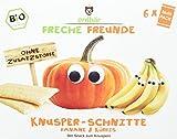 erdbär Freche Freunde 'Knusper-Schnitte Banane & Kürbis', 6er Pack (6 x 84 g)