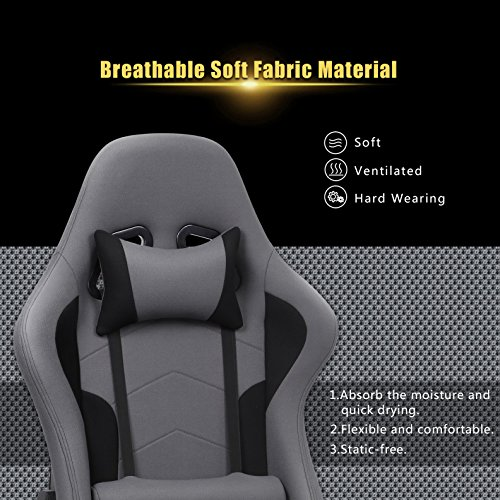 Marvelous Intimate Wm Heart Fabric Gaming Chair Grey Racing Office Machost Co Dining Chair Design Ideas Machostcouk