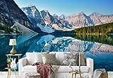 Vlies Fototapete Fotomural - Wandbild - Tapete - Berge See Betrachtung - Thema Berge - MUSTER - 104cm x 70.5cm (BxH) - 1 Teilig - Gedrückt auf 130gsm Vlies - FW-1086VEM