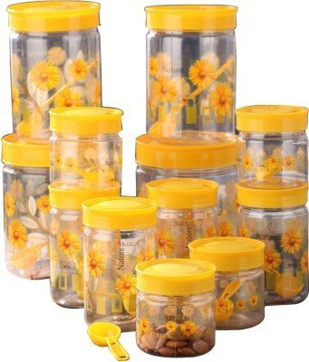 SAAJ Containers Set, 12 Pieces (Clear, Yellow)