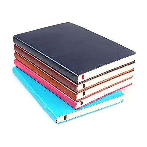 Cahier A5 240 Pages - Zhi Jin A5simples Cuir épais Pokets ordinateur