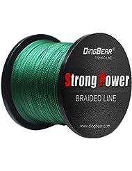 Dingbear 437Yd / 400M 85LB / 0.45mm verde oscuro Super fuerte tirón genérico trenzado línea de pesca líneas de pesca FishLines FishingLine