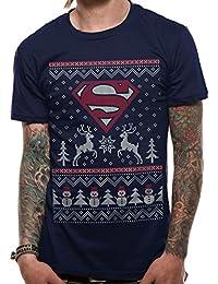 Superman Men's Reindeer & Snowman T-Shirt