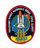 Parche bordado de NASA Atlas 3 Tanner Mcmonagle marrón Ochoa Clervoy borde rojo parche cosido o planchado 10 cm