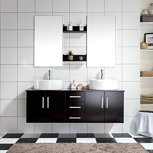 Mon Usine Discount LAtlantic : Ensemble salle de bain, 2 vasques et 2 miroirs