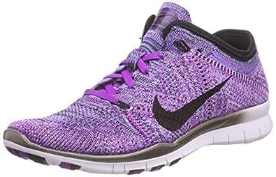 Nike Women's Free Tr Flyknit Running Shoes Purple Size: 3 UK