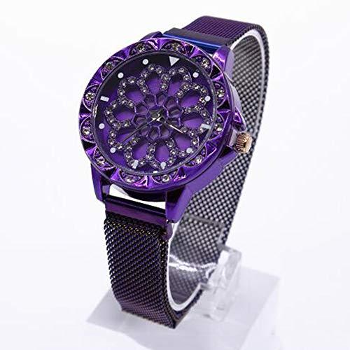 XQZ Damenuhren,Damenuhr mit Metallarmband Wasserdichte Uhr Sportliche Wind-Multifunktionsuhr