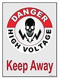 #10: The Kitabwala Danger High Voltage Poster Sign (9'' X 13