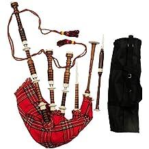 Gran Highland Gaita Palisandro imattion Marfil Mounts/escocés Gaita Shesham Madera Acabado Natural
