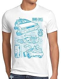 style3 DMC-12 Blaupause T-Shirt Herren