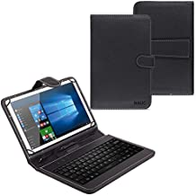 NAUC®– Funda con teclado para Alcatel One Touch Pixi 3 de10pulgadas, 3G, teclado QWERTZ, función atril, micro USB