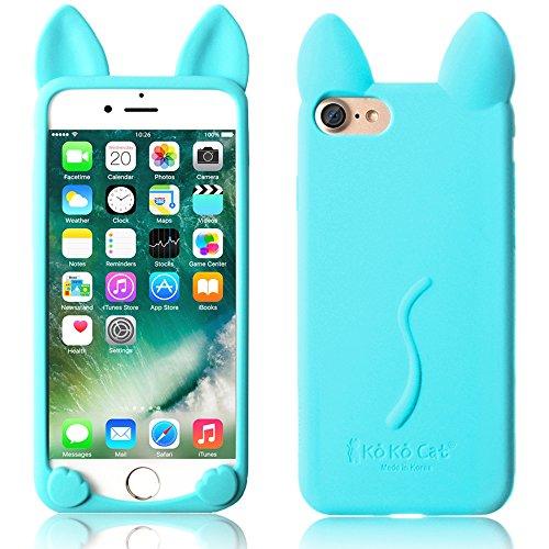 iPhone 6S Plus 5,5 Zoll Hüllen, TechCode® Niedlich 3D Cartoon Katze Tier Typ Gel Weich Case Stoßfest Apple iPhone 6 Plus 5.5'' (iPhone 6 Plus, A01) A05