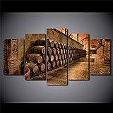 Henypt Cinq peintures murales Impressions sur Toile Cave à vin Affiche Peinture Mode...