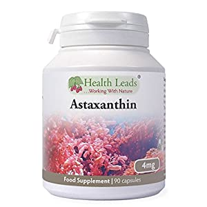 51a HkqSs6L. SS300  - Astaxanthin 4mg x 90 Capsules (100% Pure & Additive Free Food Supplement, High Strength, Powerful Antioxidant, from Natural Haematococcus Pluvialis Red Algae, UK Manufactured