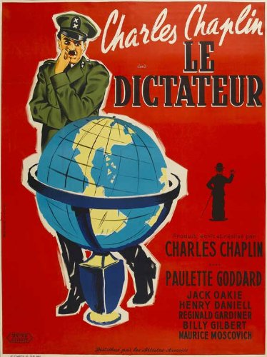 The Great Dictator Affiche du film Poster Movie Le dictateur grand (27 x 40 In - 69cm x 102cm) French Style A