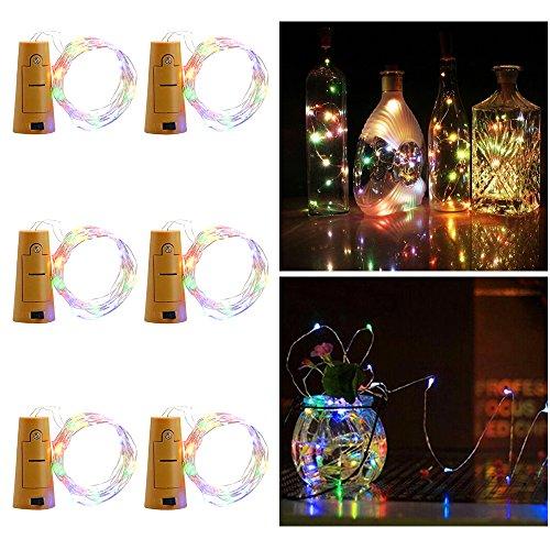 LED Flaschenlicht, Aoro 6 Stück 2M 20 LED -