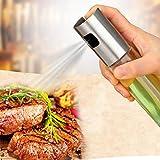 Vetro oil spruzzatore dispenser, olio spray bottiglia vuota, aceto, oliera, per cucinare insalata BBQ cottura della cucina Taglia libera Transparent
