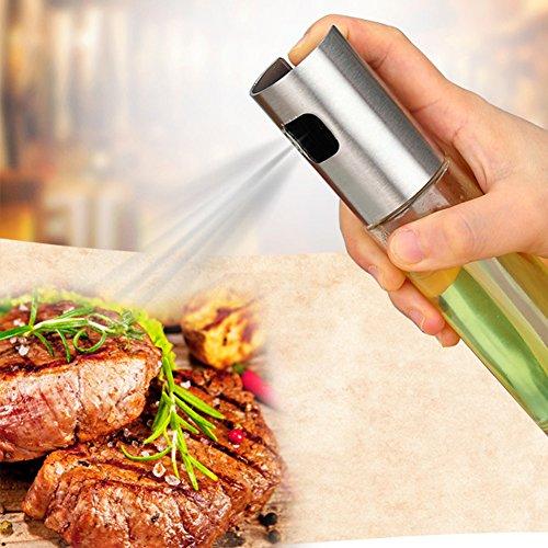 Spray de aceite de vidrio, dispensador de botellas vacío para cocinar ensalada barbacoa horno