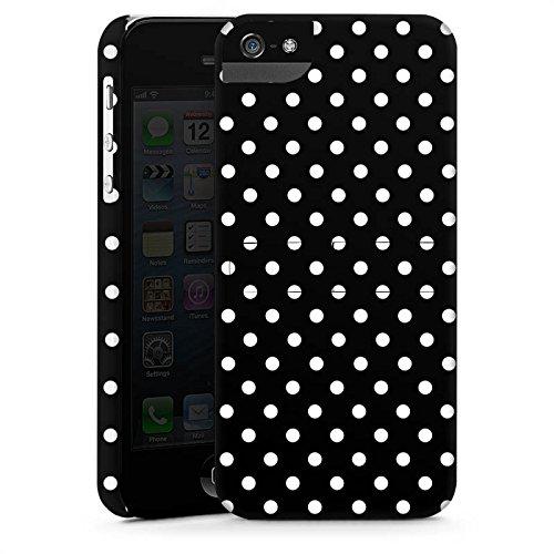 Apple iPhone 7 Silikon Hülle Case Schutzhülle Punkte Schwarz-Weiß Retro Premium Case StandUp