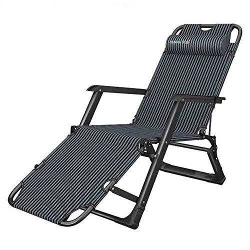 WJJJ Liegestuhl Schwerelosigkeit Stühle Relaxer Lounge Stühle Deck Deck Haushalt Garten Einstellbare Tragbare Blauen Streifen -