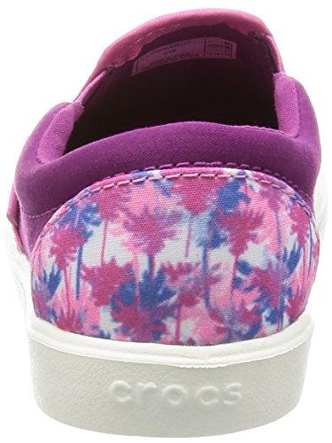 Crocs Citilane Novelty Slip-on K Pnk Plm, Sneakers basses mixte enfant Rose (Pink Palm)