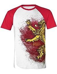 Game of Thrones Painted Lannister Raglan T-shirt blanc/rouge