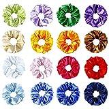 16colori grande satin Hair Scrunchies elastica elastico per capelli coda di cavallo elastici per capelli