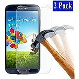 [2-Pack] PLT24 Samsung Galaxy S4 i9500 i9505 LTE Panzerglas Schutzfolie Display Panzer Folie Schutzglas Glasfolie für Samsung Galaxy S4