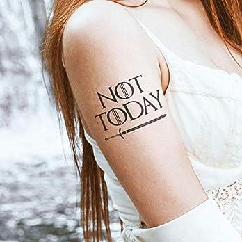Not Today – 2 Temporäres Tattoos