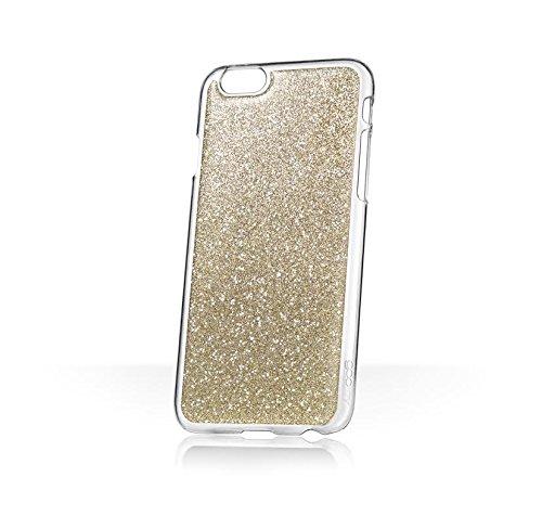 Phoebe Lettice x goo.ey - Étui coque mains libres pour téléphone portable Apple iPhone 6 / 6S Plus - (Paillettes rose) Paillettes or