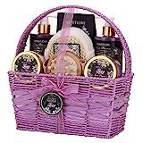 Panier cadeau de spa pour femme, ensemble cadeau de bain et de corps pour elle, 8 pièces, parfum lilas et lilas, meilleur cadeau pour la fête des mères, un anniversaire, Noël...