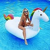 Dracarys Juguete Hinchable Flotante Gigante del Unicornio Piscina Cama Flotante Unicornio General y Adulto y Anillo de la natación del niño y Silla de la recreación del Agua (Grande)