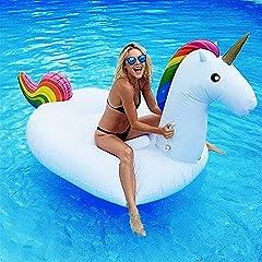 Idea Regalo - Dracarys Giocattolo Gigante Giocattolo Unicorno Piscina Letto Galleggiante Unicorno Generale & Adulto & Bambino Anello Nuoto Sedia di Ricreazione dell'Acqua