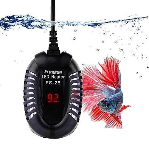 FOOL Aquarium Heizung, Heizstab mit LED-Anzeige Aquarium Heizer Regelheizer Tauchheizkörper für Süß- und Meerwasser Aquarien Fischtanks,100W