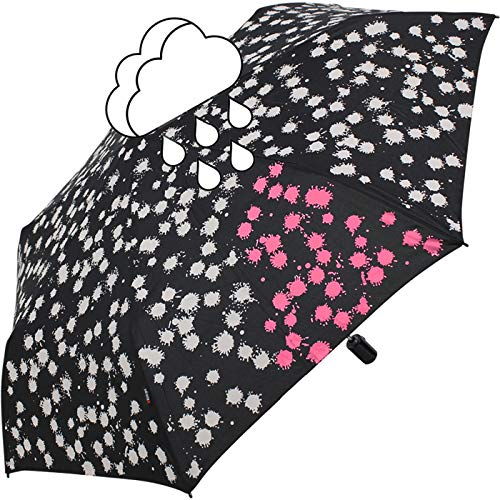 Knirps Taschenschirm Slim Duomatic Paint Drops - Wet Print Pink - Knirps Fiber