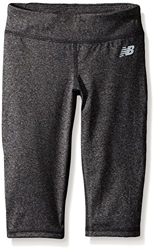 New Balance Kids Little Girls' Performance Athletic Capri, Charcoal, 6X