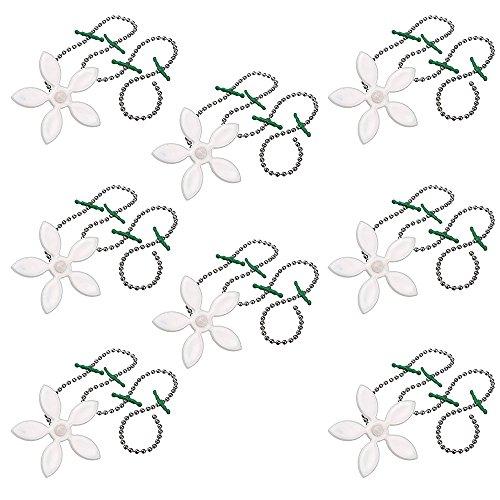 Haarfänger für Abfluss, Cuitan Haarreiniger Kanalisation Reinigungsketten Haar Blocker Reinigungswerkzeug Küche Sinken Bath Badewannen Schutz vor Verstopfen (8 Stück) - Weiß (Tägliche Schutz-lotion)
