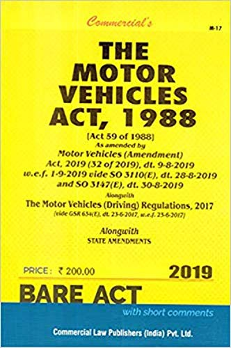 The Motor Vehicles Act, 1988 - Bare Act - 2019 Edition