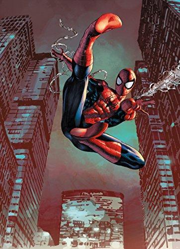 Empire Interactive Spider-Man Jump – Disney Papier Peint Photo – Wall Paper – Mural – 184 x 254 cm – 4 pièces. Une boîte de Colle et Une Guida. appianati