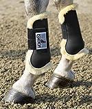 Eskadron Protection Boots Lammfell Gamaschen, braun, Warmblut