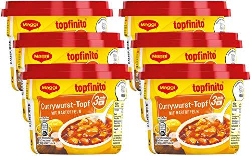 ywurst-Topf mit Kartoffeln, leckeres Fertiggericht, Wurst- und Kartoffel-Stücke in pikanter Soße, für die Mikrowelle, 6er Pack (6 x 380 g) ()