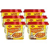 MAGGI Topfinito Currywurst-Topf mit Kartoffeln, leckeres Fertiggericht, Wurst- und Kartoffel-Stücke in pikanter Soße, für die Mikrowelle, 6er Pack (6 x 380 g)
