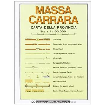 Massa Carrara. Carta Stradale Della Provincia 1:100.000