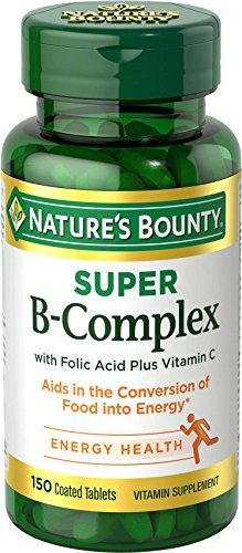 Nature's Bounty, Super B-Complex with Folic Acid Plus Vitamin C, 150 Coated Tablets