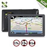 xgody 715Truck GPS Navigation System für KFZ 17,8cm Kapazitive Touchscreen GPS 8GB ROM Navigator mit Lifetime Maps Updates gesprochen Turn-by-Turn Richtungen