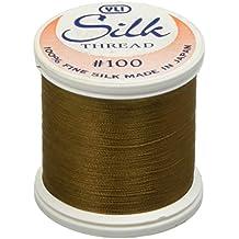 YLI Corporation - Ovillo de hilo de seda (200 m), color marrón