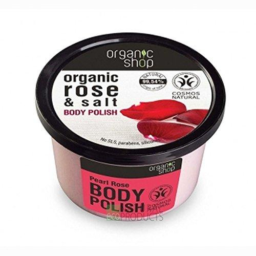 Organic Shop Perla Rosa Exfoliante Corporal Espumoso